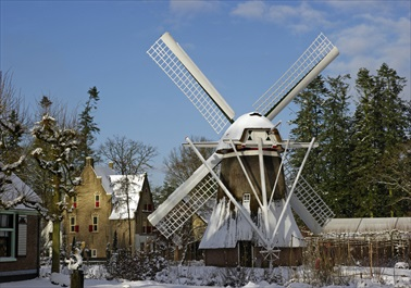windmill and snow