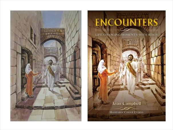 Encounters Book Cover and Sketch Comparison