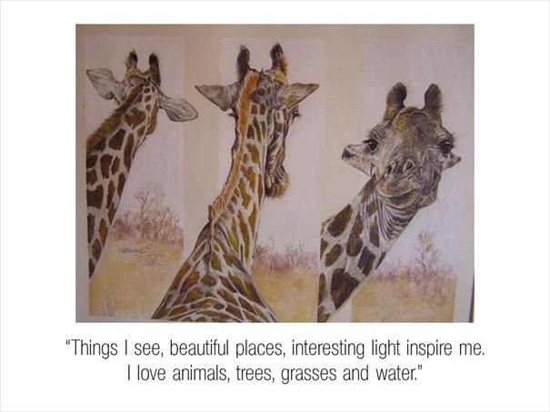 Celebrating Carrol Sketches Giraffes