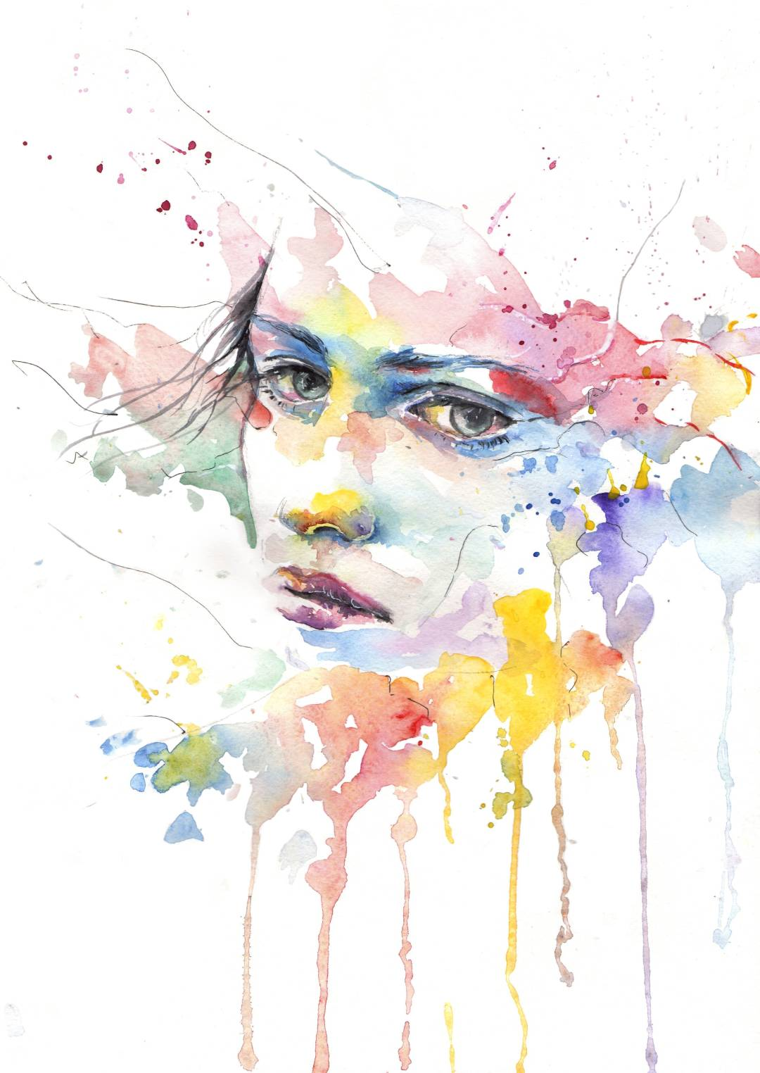 colorful-portrait-sketch